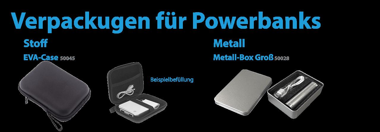 Verpackungen für Powerbanks
